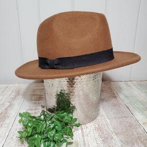 🆕️ Nine West Wool Fedora Hat Brown